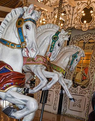 Caruosel Horses Art Print