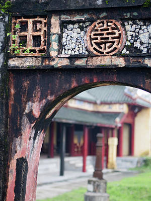 Carving Photograph - Carved Arch Inside The Imperial Palace by David H. Wells