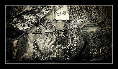 Photograph - Carved Naga At Banteay Srey by Weston Westmoreland