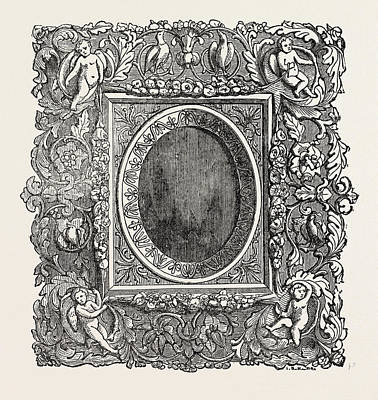 Carved Picture Frame, Tuscany, Italy Art Print by Italian School