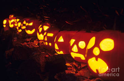Photograph - Carved Pumpkins by Jim Corwin