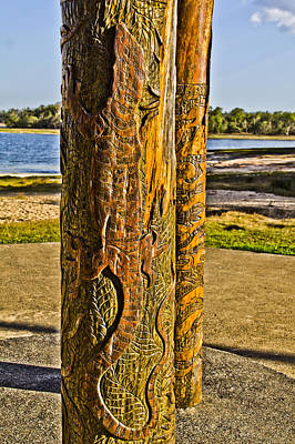 Photograph - Carved Tree Trunk by Debbie Cundy