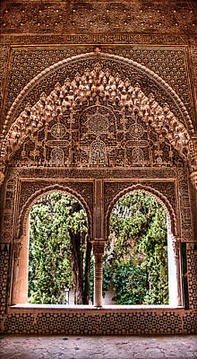 Photograph - Carved Window Into The Garden The Lindaraja Balcony by Weston Westmoreland
