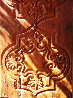 Photograph - Carved Window Shutter by Lew Davis