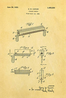 Carver Package Handle Patent Art 1923 Art Print