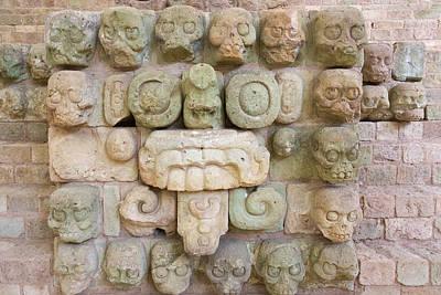 Carving Photograph - Carving At Copan Ruins, Maya Site by Keren Su