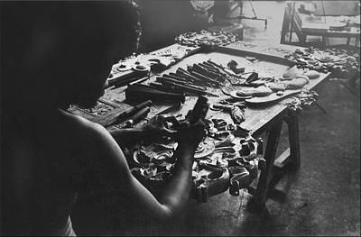 Photograph - Carving Hands - Renato 1975 by Glenn Bautista