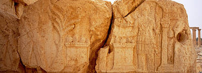 Syria Photograph - Carving On Rocks, Palmyra, Syria by Panoramic Images