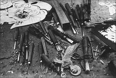Photograph - Carving Tools 1975 by Glenn Bautista