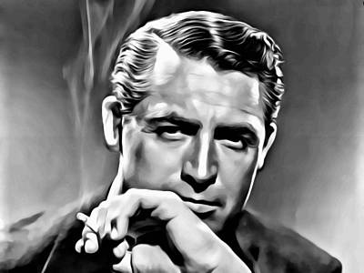 Cary Grant Painting - Cary Grant Portrait by Florian Rodarte