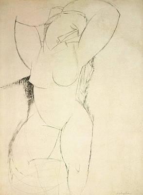 Caryatid Art Print by Amedeo Modigliani