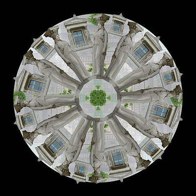 Caryatids Digital Art - Caryatid Chicago by Lisa Schwaberow