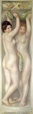 Caryatids Painting - Caryatids by Pierre Auguste Renoir