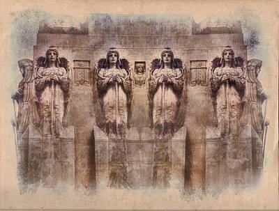Caryatids Digital Art - Caryatids by Rick Lloyd