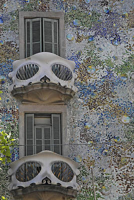 Photograph - Casa Batllo Balcony by Doug Davidson