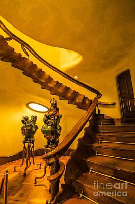 Marsh Photograph - Casa Batllo Grand Staircase by Deborah Smolinske