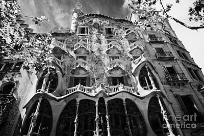 casa batllo modernisme style building in Barcelona Catalonia Spain Art Print
