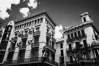 Quadro Photograph - Casa Bruno Cuadros La Rambla Barcelona Catalonia Spain by Joe Fox