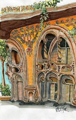 Casa Comolat Barcelona Spain Art Print by Paul Guyer