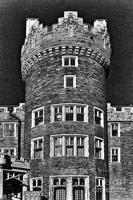 Photograph - Casa Loma In Charcoal by Les Palenik