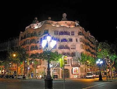 Photograph - Casa Mila -gaudi - Barcelona   by Jacqueline M Lewis