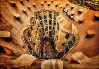 Gaudi Photograph - Casa Mila?, La Pedrera, Barcelona. by Artistname