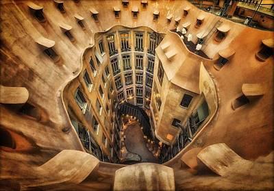 Rooftop Photograph - Casa Mila?, La Pedrera, Barcelona. by Massimo Cuomo