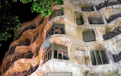 Photograph - Casa Mila -  By Gaudi In Barcelona by Jacqueline M Lewis
