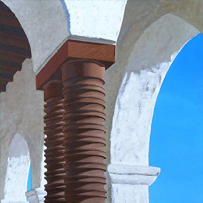 Stucco Painting - Casa Romantica Five by Michael Ward