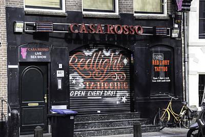 Redlight Photograph - Casa Rosso Amsterdam by Teresa Mucha