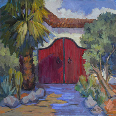 Gate Painting - Casa Tecate Gate 2 by Diane McClary