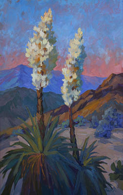 Painting - Casa Tecate Yuccas by Diane McClary
