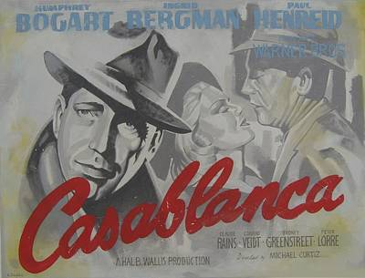 Casablanca Film Painting - Casablanca by Steven Coughlin