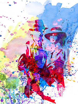 Actress Painting - Casablanca Watercolor by Naxart Studio