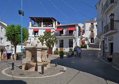 Casares Photograph - Casares Village Streets Malaga by Panoramic Images