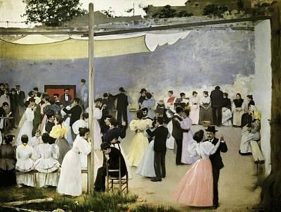 Casas I Carbo, Ram�n 1866-1932. Evening Art Print by Everett