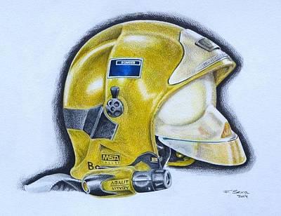 Drawing - Casc De Bomber by Ferran Serra