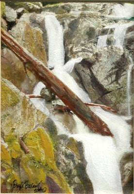 Painting - Cascade Creek Falls by Joseph Barani