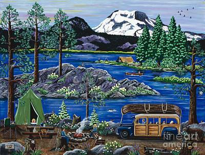 Cascade Lake Sparks Art Print