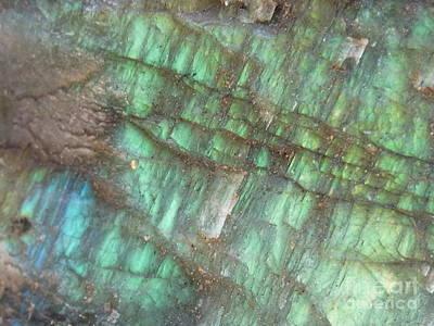 Blue Labradorite Photograph - Cascade Of Green by Agnieszka Ledwon