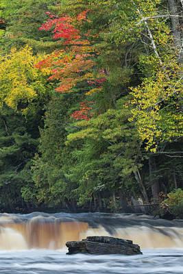 Northwoods Photograph - Cascade On Lower Section Of Tahquamenon by Adam Jones