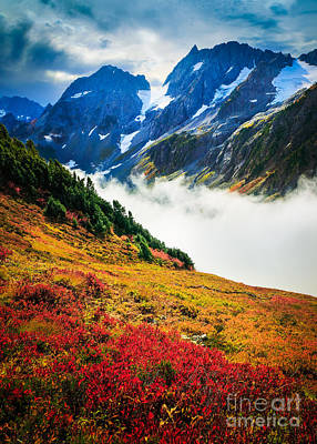 North Cascades Photograph - Cascade Pass Peaks by Inge Johnsson