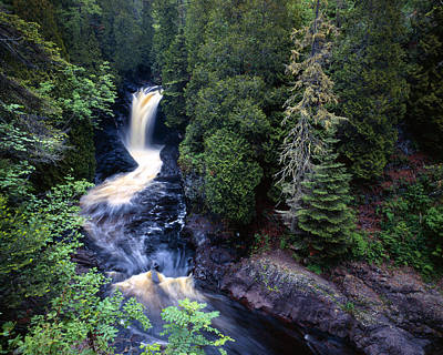 Photograph - Cascade River Lower Falls by Tim Hawkins