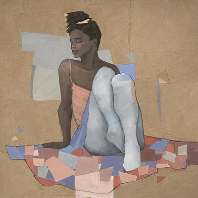 Black Woman Painting - Cascade by Steve Mitchell