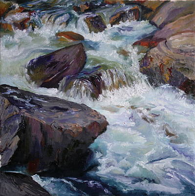 Painting - Cascades After Daniel Edmondson by Mary Wykes
