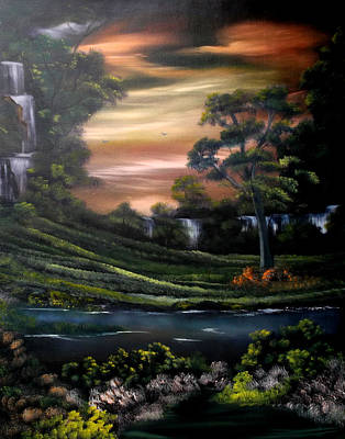 Cynthia-adams-uk Painting - Cascades From Heaven by Cynthia Adams