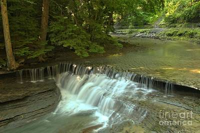 Photograph - Cascades In Stony Brook Gorge by Adam Jewell