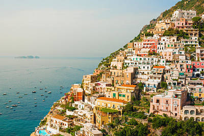Cascades Of Positano City Art Print