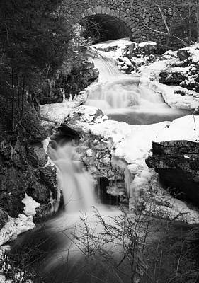 Snowy Brook Photograph - Cascades Of Velvet by Luke Moore