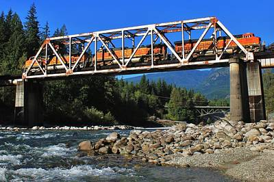 Photograph - Cascades Rail Bridge by Benjamin Yeager